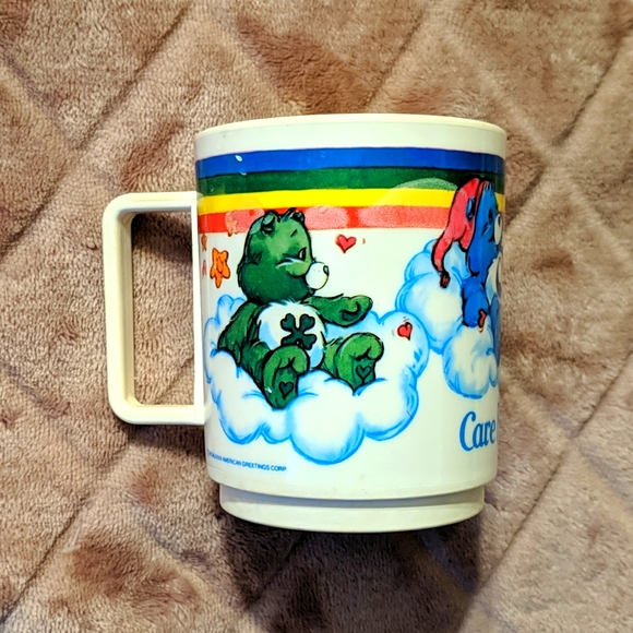 Vintage 80s Care Bears Plastic Mug/Holder by Deka